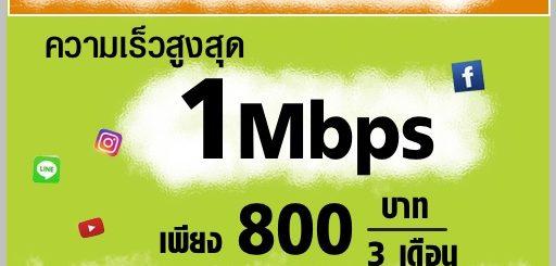 โปรเน็ต AIS เน็ต 1 Mbps ไม่ลดสปีด 3 เดือน