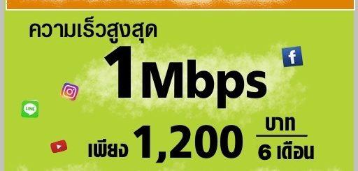 เน็ต 1 mbps ไม่ลดสปีด ais 6 เดือน